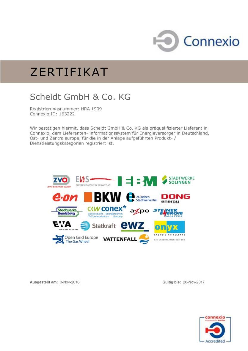 Connexio Zertifikat