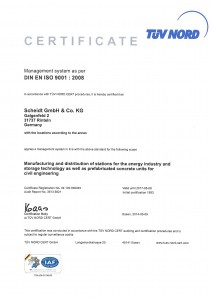 DIN EN ISO 9001 Zertifikat (English)