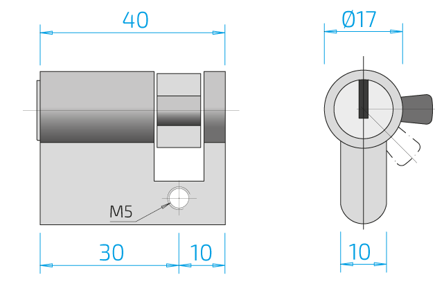Dimension cylinder length