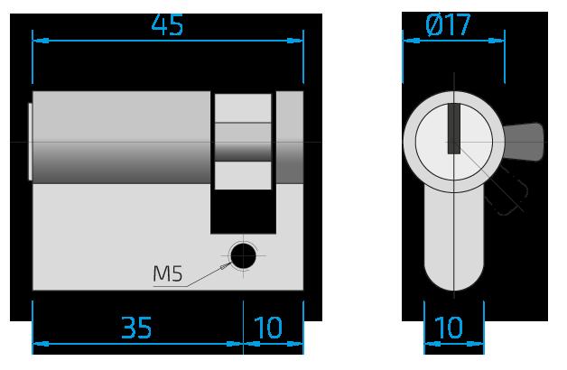 Dimension cylinder length