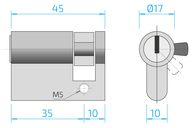 Bemaßung Zylinderlänge
