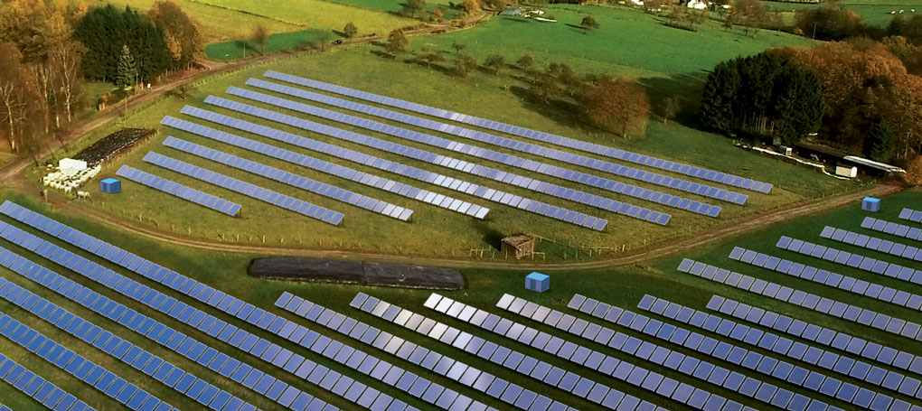 Photovoltaic park in the UK