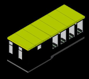 Individuelle Schalthäuser und Bauwerke