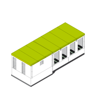 Individual transformer houses and buildings
